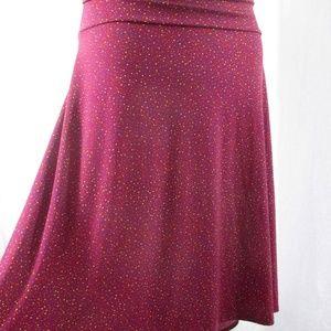 LulaRoe Azure Skirt Polka Dots 2XL